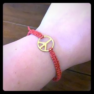 Macrame Peace Sign Bracelet